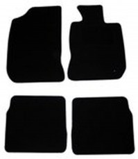 Renault Laguna Mk2 (2001-2007) Black Tailored Floor Car Mats Set