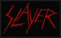 Slayer Scratched Black Red Logo Highly Detailed Iron Sew On Patch Official
