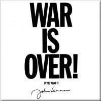 John Lennon Metal Fridge Magnet War Is Over Fan Gift Album Official