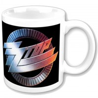 ZZ Top Band Circle Logo Boxed White Coffee Gift Presentation Mug Official Fan