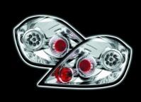VAUXHALL ASTRA H 5 DOOR TECHNO LED CHROME REAR TAIL LIGHTS