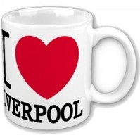 I Love Heart Liverpool White Coffee Mug Cup Boxed Gift Merseyside North West
