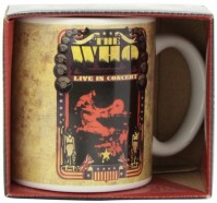 The Who Live In Concert Album Cover Logo Boxed White Coffee Gift Mug Official