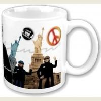 John Lennon Yoko Peace And Liberty White Coffee Mug Cup Boxed Official Fan Gift