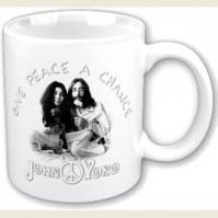 John Lennon And Yoko Give Peace A Chance White Coffee Mug Boxed Official Gift