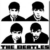 Beatles Metal Fridge Magnet Black White Portraits Album Cover Fan Gift Official