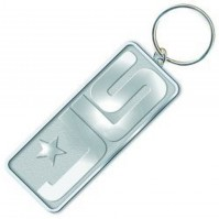 JLS Band Icon Chrome Metallic Silver High Quality Keychain Keyring Official