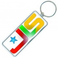 JLS Band Icon Colour Metallic Silver High Quality Keychain Keyring Official