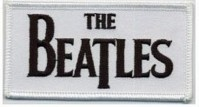 The Beatles White Black Drop T Logo Band Iron Sew On Patch Badge Apple Official