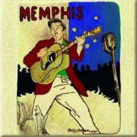 Elvis Presley Metal Fridge Magnet Memphis Album Fan Gift Official