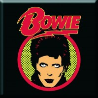 David Bowie Metal Fridge Magnet Flash Logo Album Cover Fan Gift Official