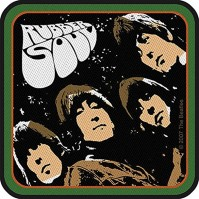 The Beatles Rubber Soul Album Logo Band Iron Sew On Patch Square Badge Official