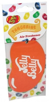 Jelly Belly Bean 2D Car Home Office Air Freshener Orange Tangerine SEALED CARDED