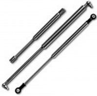 Vauxhall Senator Saloon (1991-1993) Boot Lifter Gas Struts With OEM Fittings - In Black Carbon Steel With Nitrocarburized Plating