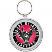 Velvet Revolver Libertad Album Cover Logo Icon Metal Keychain Keyring Official