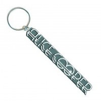 Alice Cooper Silver Name Deco Band Logo Metal Keychain Keyring Fan Gift Official