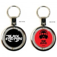 Black Eyed Peas The End Black Red Spinning Keychain Keyring Fan Gift Official