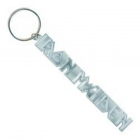 Iron Maiden Band Name Logo Icon Metal Keychain Keyring Fan Gift Silver Official