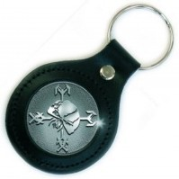 Iron Maiden Final Frontier Icon Leather Metal Keychain Keyring Fan Gift Official