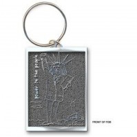John Lennon Power To The People Image Metal Keychain Keyring Silver Official