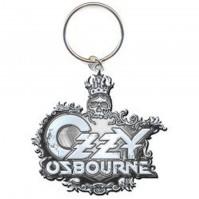 Ozzy Osbourne Black Sabbath Name Logo Metal Silver Keychain Keyring Fan Official
