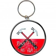 Pink Floyd Hammers Red White Logo The Wall Metal Keychain Keyring Gift Official