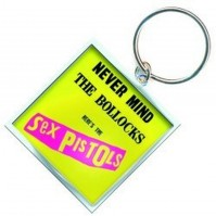 Sex Pistols Never Mind The Bollocks Metal Square Keychain Keyring Gift Official
