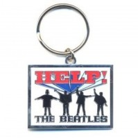 The Beatles Help Silhouette Image Logo Metal Keychain Keyring Fan Gift Official