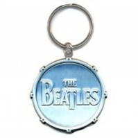 The Beatles All Metal diecut Drum Logo Keychains (All Metal) 100% Original Official Licensed Products