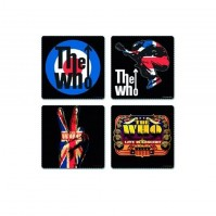 The Who 4 Drinks Coaster Set 4 Album Covers Gift Box Fan Idea Mug CD Official