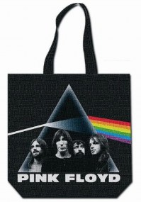 Pink Floyd Dark Side Of The Moon Black Tote Shopping Reusable Green Bag Official