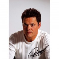 Donny Osmond White Short Photograph Postcard Picture Image Signature Official