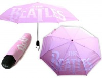 The Beatles Drop T Classic Logo Pink Umbrella Sleeve Gift Fan Girls Official