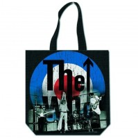 The Who Bullseye Target Logo Black Tote Shopping Reusable Green Bag Official