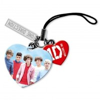 1D One Direction Collectable Mobile Phone Charm Red Love Heart 100% Official