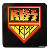KISS Coaster Army Logo Single Drinks Coaster Gift Band Album Fan Official