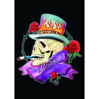 Poison Smoking Skull Band Logo Postcard Picture Album Cover Image 100% Official