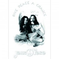 The Beatles John Lennon Yoko Ono Postcard Give Peace A Chance Picture Official