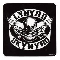 Lynyrd Skynyrd Skull Crossbones Logo Single Drinks Coaster Gift Band Album Fan