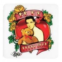 Elvis Presley Be My Teddy Bear Single Drinks Coaster Gift Band Album Fan