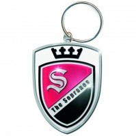 The Sopranos Crest Crown Logo Badge Red Black Metal Keychain Keyring Official