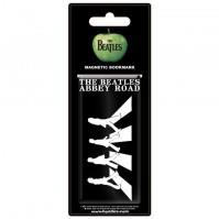 The Beatles Magnetic Bookmark Double Sided Black And White Silouette Abbey Road Album Cover