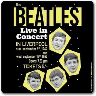 The Beatles Live In Concert Liverpool Single Drinks Coaster Gift Band Album Fan