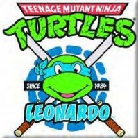 Teenage Mutant Ninja Turtles Leonardo Metal Fridge Magnet TV Film Official