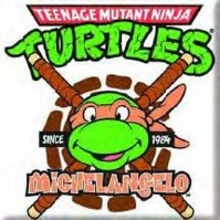 Teenage Mutant Ninja Turtles Michelangelo Metal Fridge Magnet TV Film Official