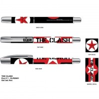 The Clash Band Stars Stripes Logo Album Cover Black Rollerball Gel Pen Official