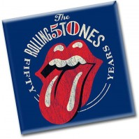 Rolling Stones Metal Steel Fridge Magnet Fifty 50 Years Blue Red Official