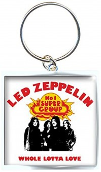 Led Zeppelin Whole Lotta Love Square Metal Keychain Keyring Fan Gift Official