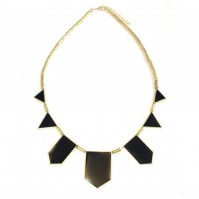 Black Gold Geometric Fashion Necklace Pendant Choker Chic Tribal European Style Womens Ladies Triangle Vintage