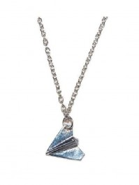 Paper Airplane Plane Necklace Chain Pendant One Direction Harry Styles Jewellery